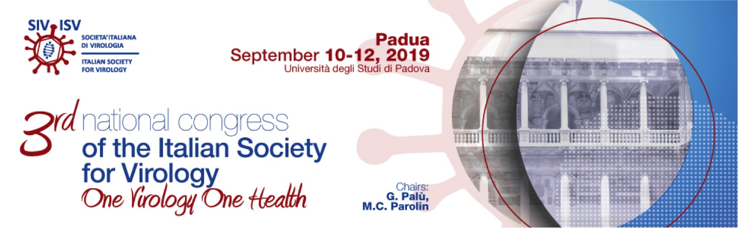 banner for the 3rd national congress of the Italian Society for Virology
