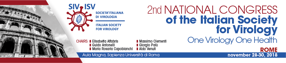 banner for the second national congress of the Italian Society for Virology
